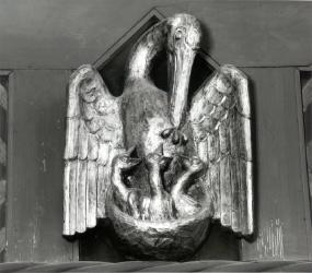 Pelikan an der Südempore