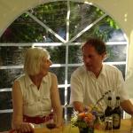 Frau Pfeifer und Pfarrer Eibach