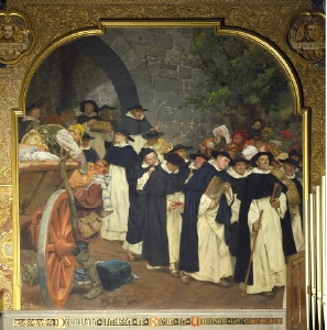 Auszug der Dominikaner (Peter Janssen, 1903, Aula der Alten Universitt)
