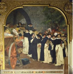 Auszug der Dominikaner (Peter Janssen, 1903, Aula der Alten Universität)
