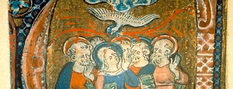 Pfingsten - Mittelalterliche Buchinitiale