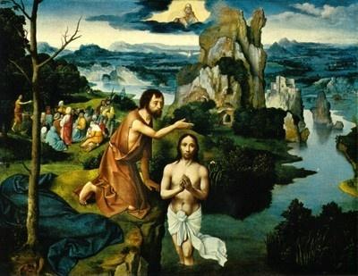 Taufe Jesu von J. Patinir (1480-1524)