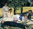 Picknick am Sommernachmittag (Albert Weisgerber, 1910)