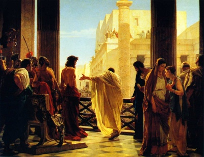 Antonio Ciseri (1821-1891) - Ecce Homo (Motiv des Sargenzeller Frchteteppichs 2010)