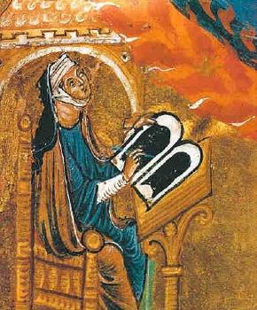 Hildegard von Bingen (Miniatur aus dem Lucca-Codex, um 1220/1230)
