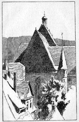An der Universitätskirche Marburg (Otto Ubbelohde, um 1906)
