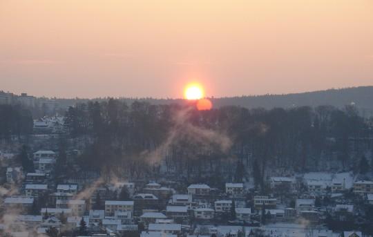 Januarmorgen über den Lahnbergen (Foto: Jörg Rustmeier)
