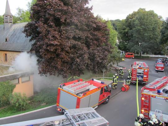 Feuerwehr vor St. Jost