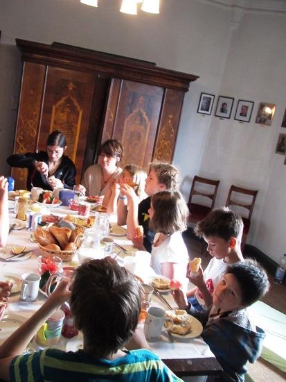 Frühstück nach der Kirchennacht