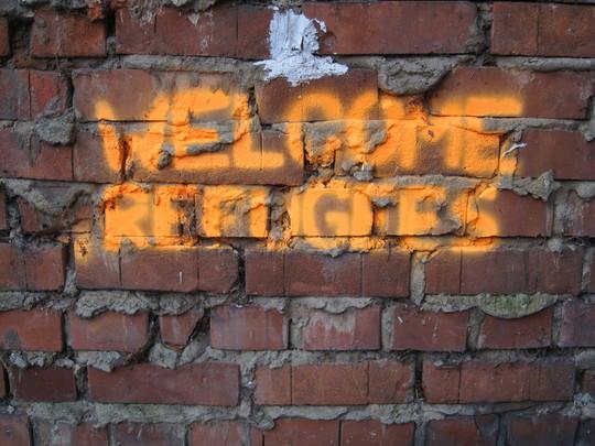 Welcome Refugees - Willkommen Flüchtlinge