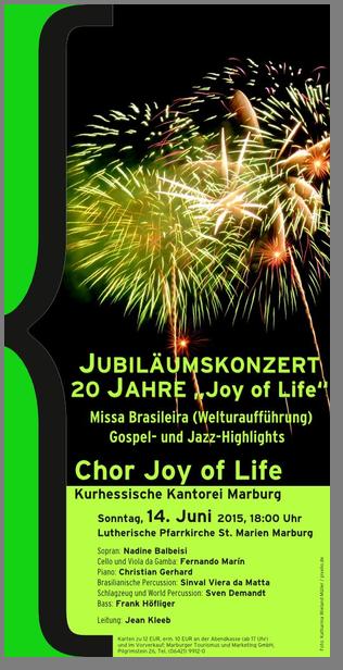 Jubiläumskonzert 2015 Marburg