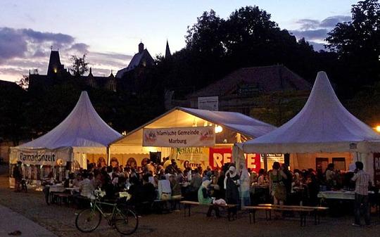 Ramadan-Zelt 2009 Foto R. Kieselbach