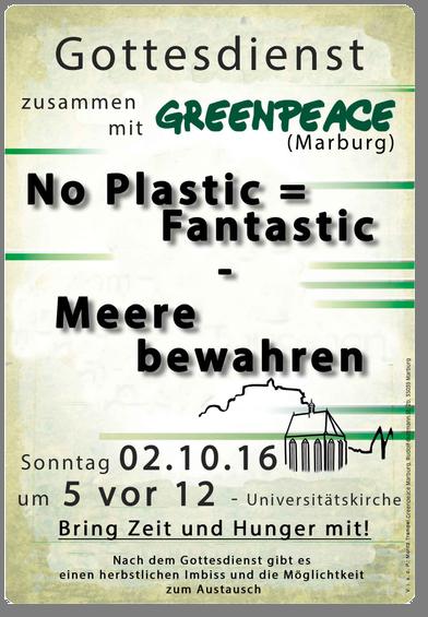 Plakat Greenpeace