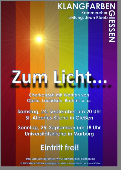Plakat Zum Licht